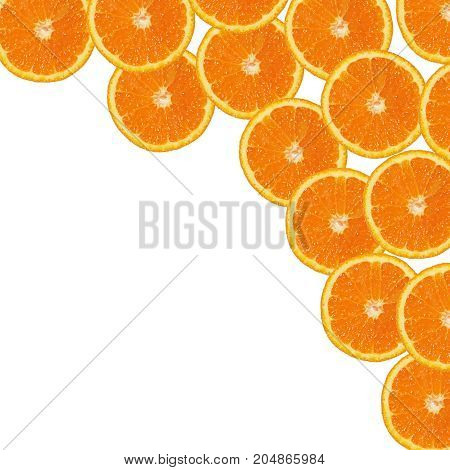 fresh orange slices background orange slices isolated
