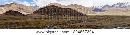Typical landscape of Tibet - Panoramic view of mountain landscape - Tibet
