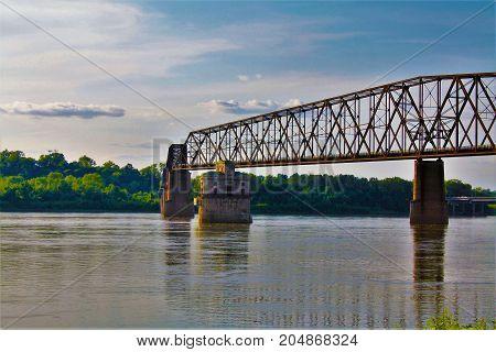 Chain of Rocks Bridge over the Mississippi River in Granite Illinois