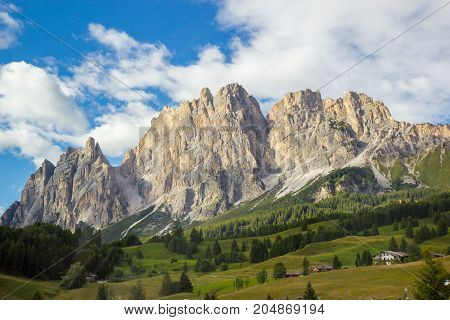 Beautiful View Of Dolomites Alps, Italy