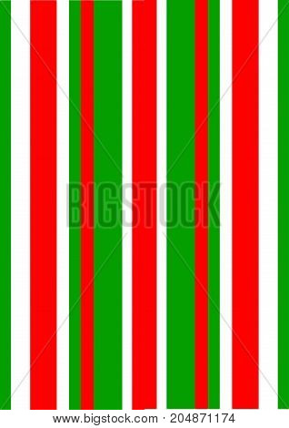 An illustration of stripes in the colors of a typical geranium plant, red and green