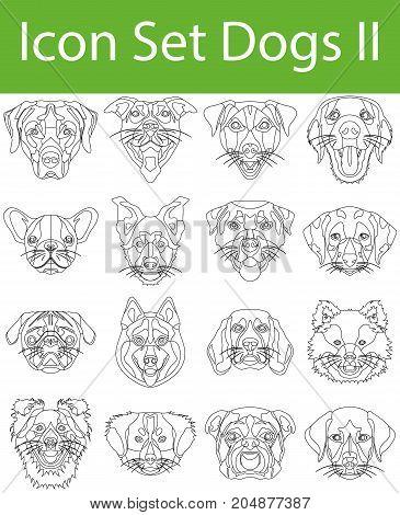 Icon Set Dogs Ii
