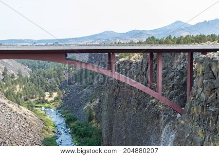 Crooked River In Oregon