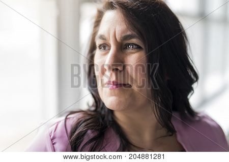 A Shot of a beautiful mid adult woman smiling