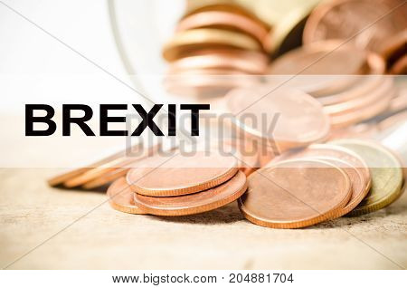 Brexit referendum,The economic impact.Business and money conceptual