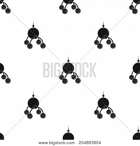 The spacecraft, Lunokhod. Space technology single icon in black style vector symbol stock illustration .