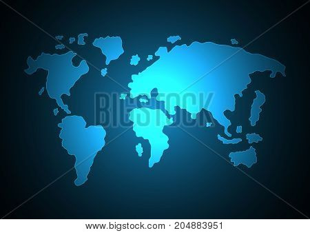 Abstract World Map Light Modern