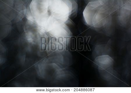 The Blurred  Black And White Hexagonal  Background