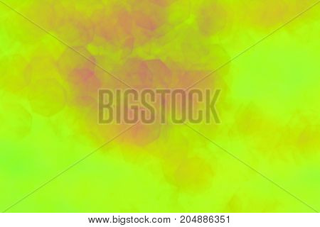 The  Blurred Of Yellow, Pink And White Hexagonal  Background