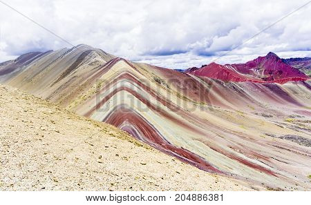 The Rainbow mountains of Peru. Nice place for tourist