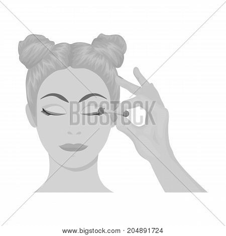 Makeup, single icon in monochrome style. Makeup, vector symbol stock illustration .