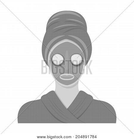 Mask, single icon in monochrome style.Mask, vector symbol stock illustration .