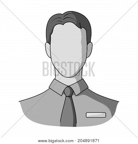Person, single icon in monochrome style.Person, vector symbol stock illustration .