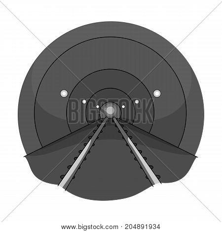 Tunnel, single icon in monochrome style.Tunnel, vector symbol stock illustration .