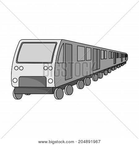 Train, single icon in monochrome style.Train, vector symbol stock illustration .