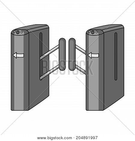 Turnstile, single icon in monochrome style.Turnstile vector symbol stock illustration .