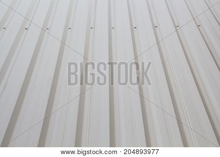 Factory wall made of metal sheetwall plant creem color
