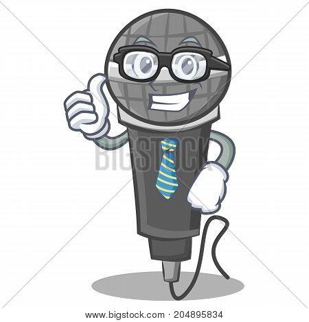 Businessman microphone cartoon character design vector illustration