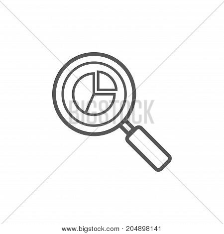 Analytics Icon Web Analytics Vector Outline Symbol
