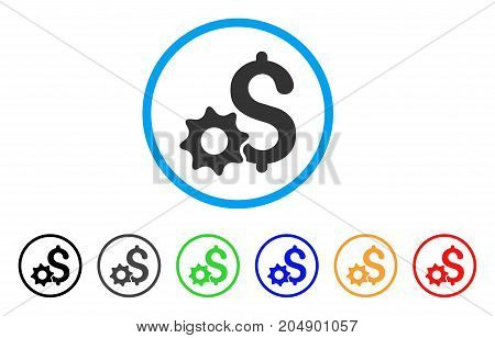 Payment Options rounded icon. Style is a flat payment options grey symbol inside light blue circle with black, gray, green, blue, red, orange versions. Vector designed for web and software interfaces.