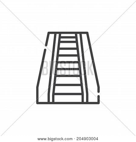 Escalator line icon, outline vector sign, linear style pictogram isolated on white. Symbol, logo illustration. Editable stroke