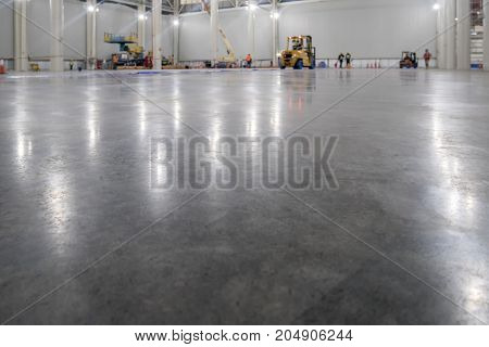 epoxy floor in warehouse factory japan construction site