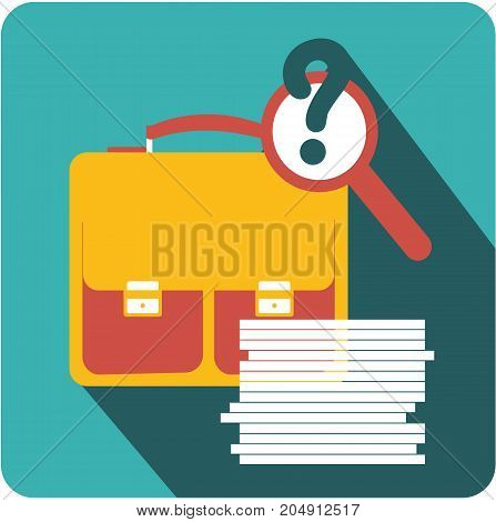 Vector business sign square shape icon business documents archive