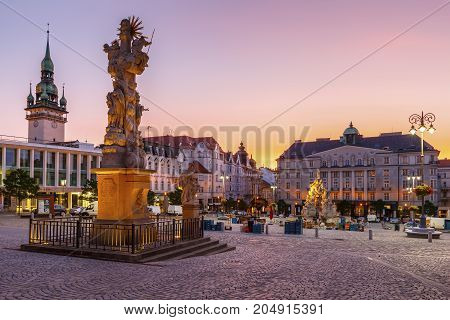 BRNO, CZECH REPUBLIC - AUGUST 23, 2017: Cabbage Market square in the old town of Brno, Czech Republic on August 23, 2017.
