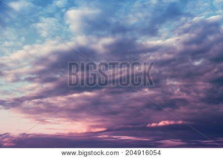 Cloudscape in the sky. Nature clouds background