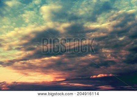 Cloudscape in the sky. Nature landscape with clouds