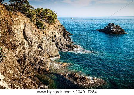 Rocky Coast And The Sea