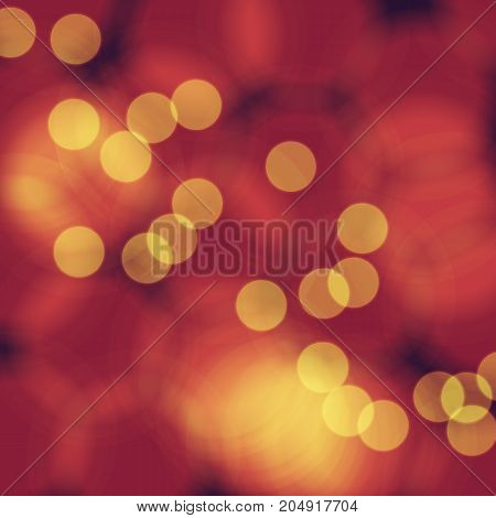 red orange yellow colored bokeh vector design