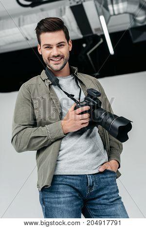 Photographer In Photo Studio