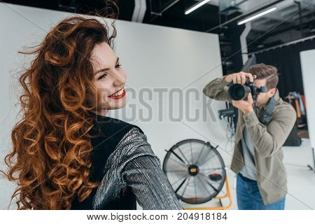 Photographer And Beautiful Model