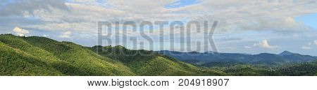 Mountain road side view - Stock Image