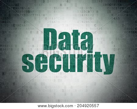 Safety concept: Painted green word Data Security on Digital Data Paper background