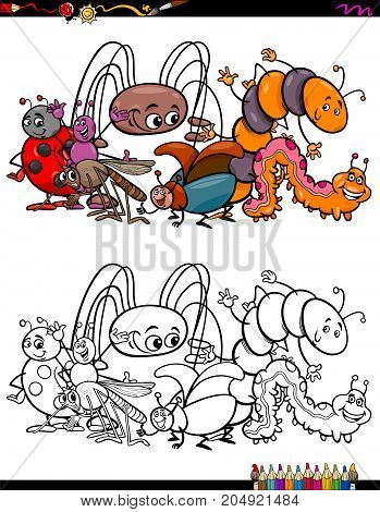 Insects Animal Characters Coloring Book