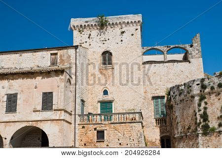 Perspective of the Castle of Conversano. Puglia. Italy.