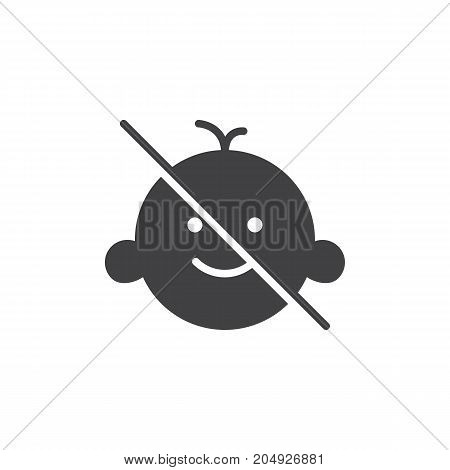 Keep away from children icon vector, filled flat sign, solid pictogram isolated on white. Symbol, logo illustration