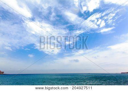 Horizon of the sea. Ocean and Sky. beautiful seascape panorama.