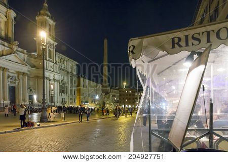 Nightlife Scene In Piazza Navona, Rome