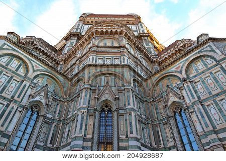 Basilica di Santa Maria del Fiore or Duomo (Basilica of Saint Mary of the Flower) in Florence, Italy