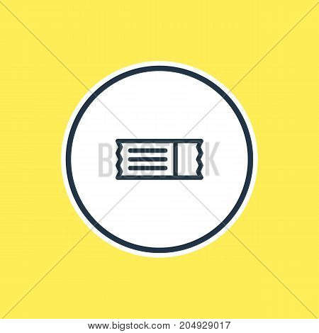 Beautiful Entertainment Element Also Can Be Used As Coupon Element.  Vector Illustration Of Ticket Outline.