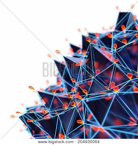 Abstract Geometric Structure Background. 3 D illustration