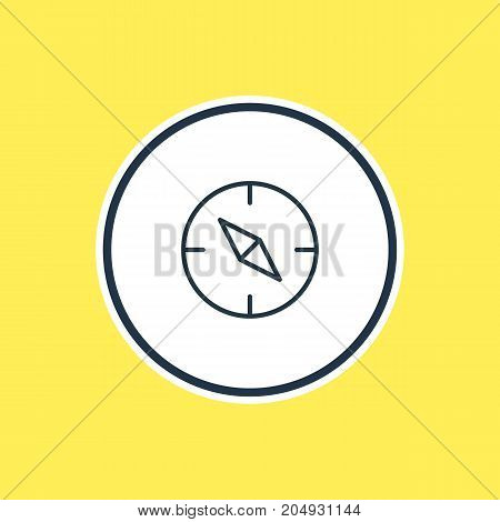 Beautiful Location Element Also Can Be Used As Compass Element.  Vector Illustration Of Orientation Outline.