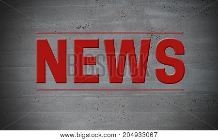 News on concrete wall concept background picture