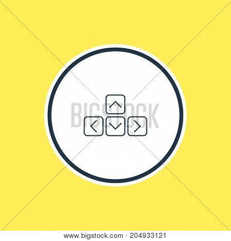 Beautiful Notebook Element Also Can Be Used As Keypad Element.  Vector Illustration Of Keyboard Outline.