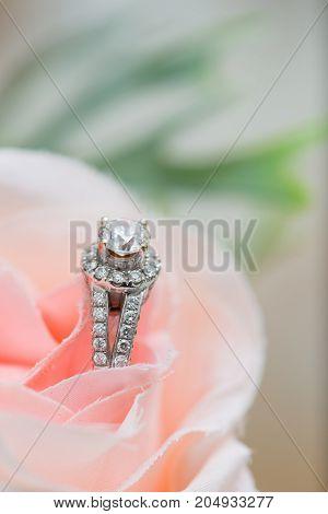 Close up of wedding ring - stock image