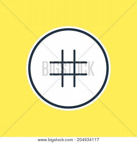 Beautiful Application Element Also Can Be Used As Lattice Element.  Vector Illustration Of Grid Outline.