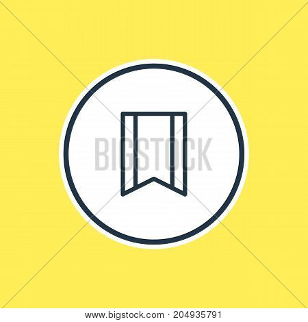 Beautiful Application Element Also Can Be Used As Pennant Element.  Vector Illustration Of Bookmark Outline.